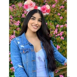Disney Parks Pink Floral Minnie Ears